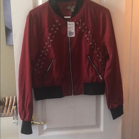 Forever 21 lace up bomber jacket Boutique